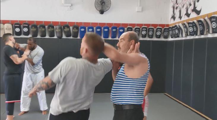 Two-Way Elbow-Head Takedown