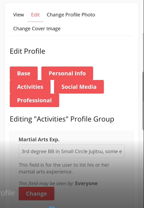 Input/Edit Your Profile Information From Your Phone